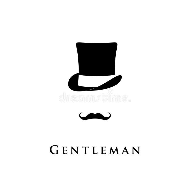 Isolerad gentlemansymbol stock illustrationer