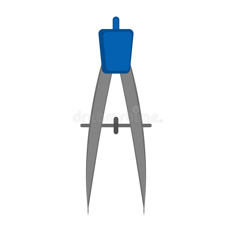 Isolerad geometrikompasssymbol stock illustrationer