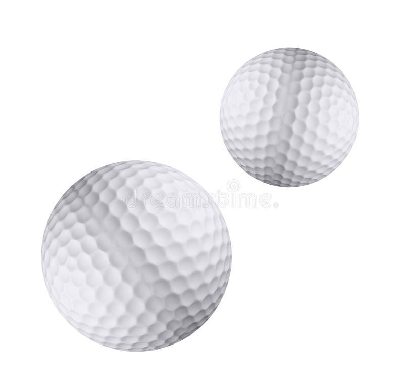 Isolerad golfboll royaltyfri illustrationer