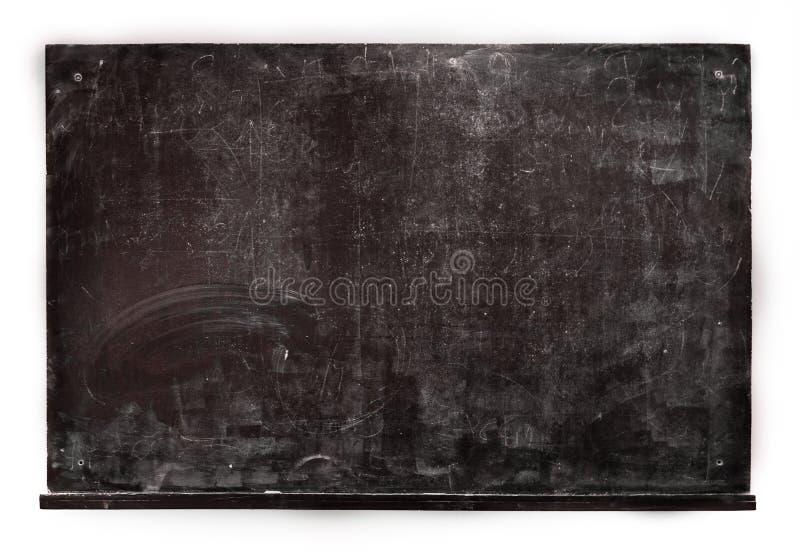 Isolerad grungesvart tavla för att studera i skolutbildningbaksida arkivbilder