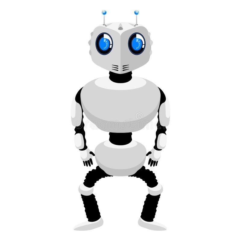 Isolerad gullig androidsymbol royaltyfri illustrationer