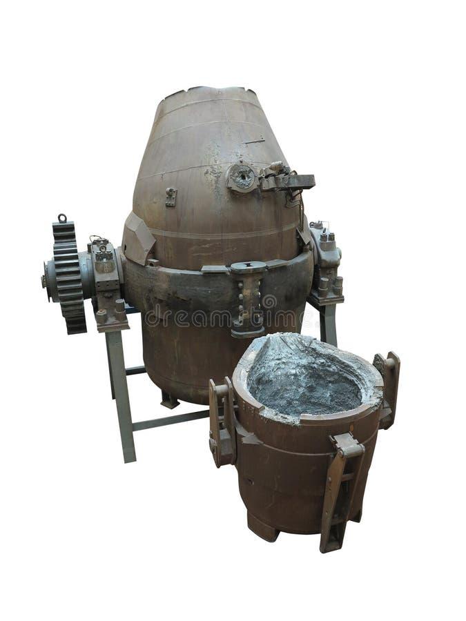 Isolerad hällande omformare för industriell stålproduktionsutrustning arkivbilder