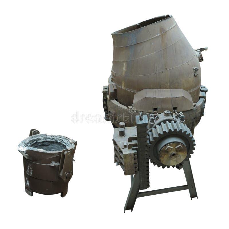 Isolerad hällande omformare för industriell stålproduktionsutrustning arkivbild