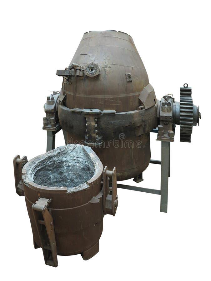 Isolerad hällande omformare för industriell stålproduktionsutrustning fotografering för bildbyråer