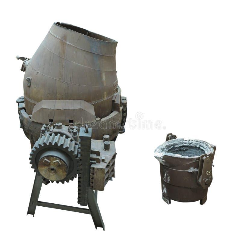 Isolerad hällande omformare för industriell stålproduktionsutrustning royaltyfria foton
