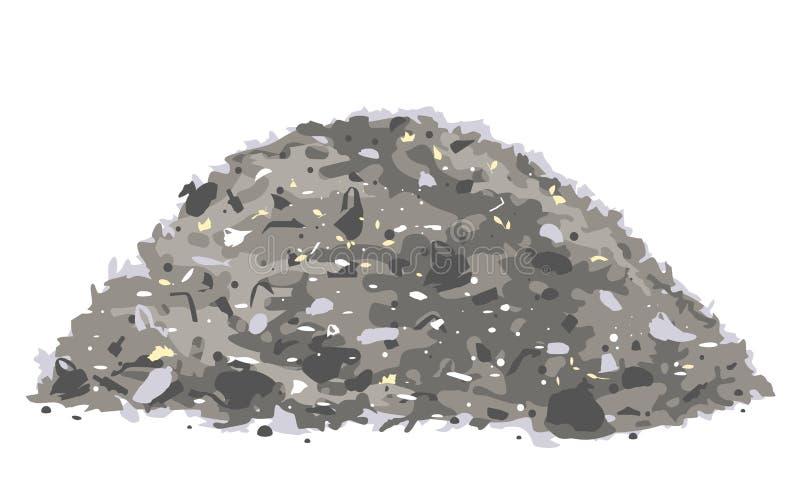 Isolerad hög av avfall stock illustrationer