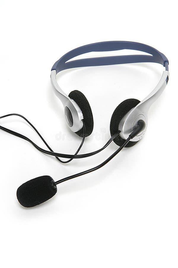 isolerad hörlurar med mikrofon arkivbilder