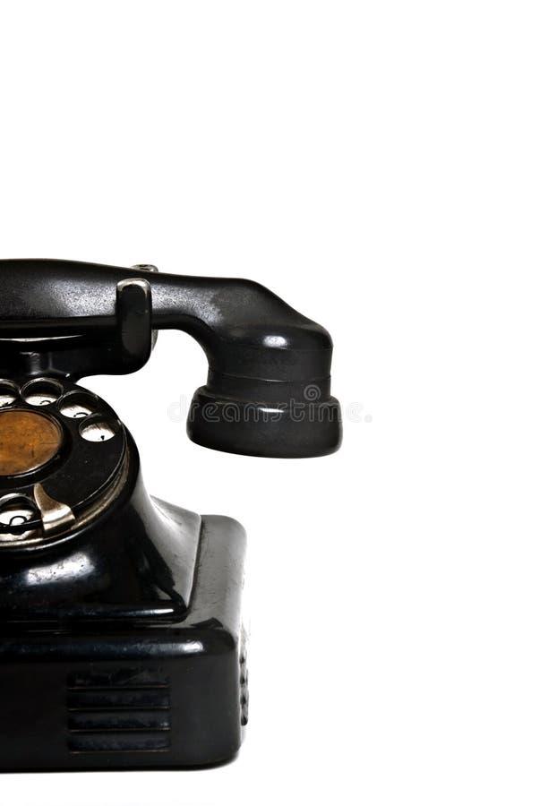 Isolerad Half tappningtelefon arkivfoto