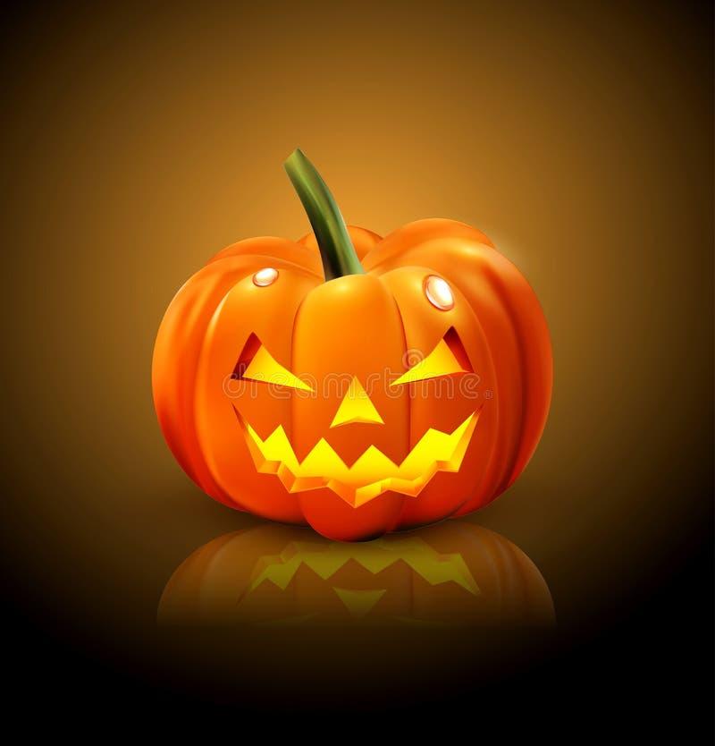 Isolerad Halloween pumpa stock illustrationer