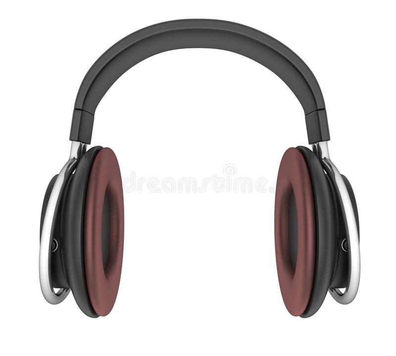Isolerad Headphone stock illustrationer