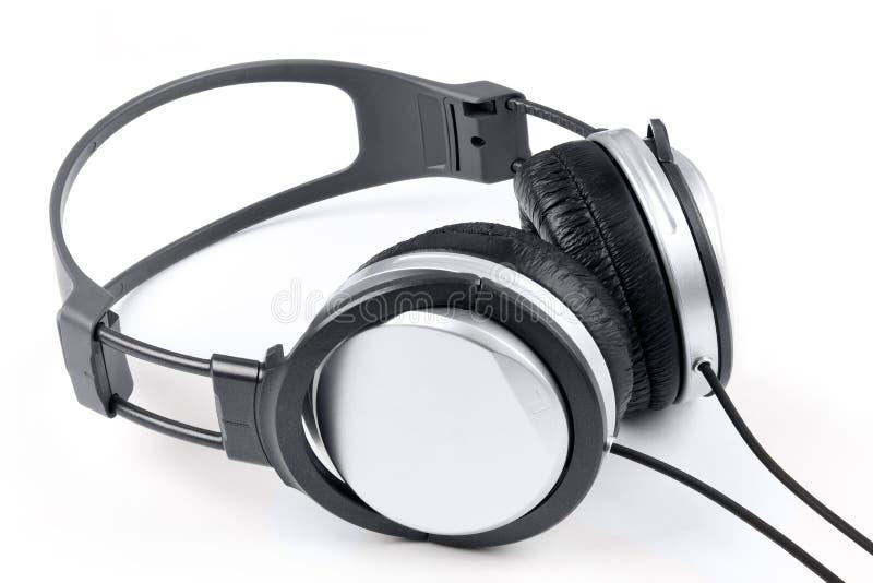 isolerad headphone royaltyfria foton