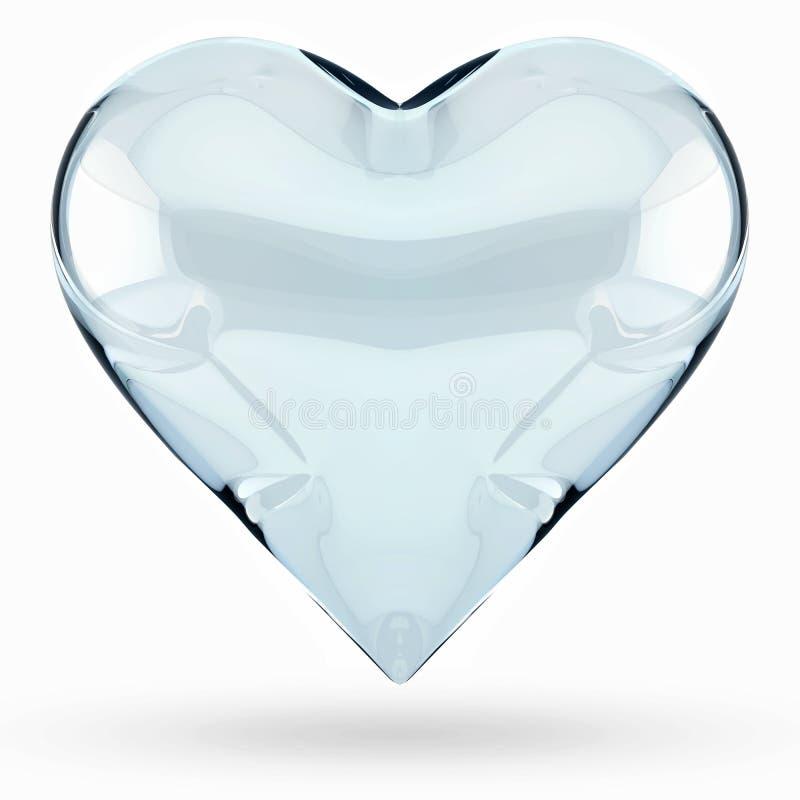Isolerad hjärta för exponeringsglas 3D royaltyfri illustrationer
