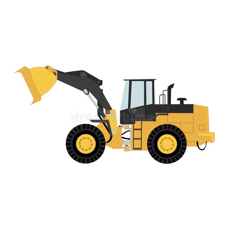 Isolerad hjulladdare, trans. och logistikaffär stock illustrationer