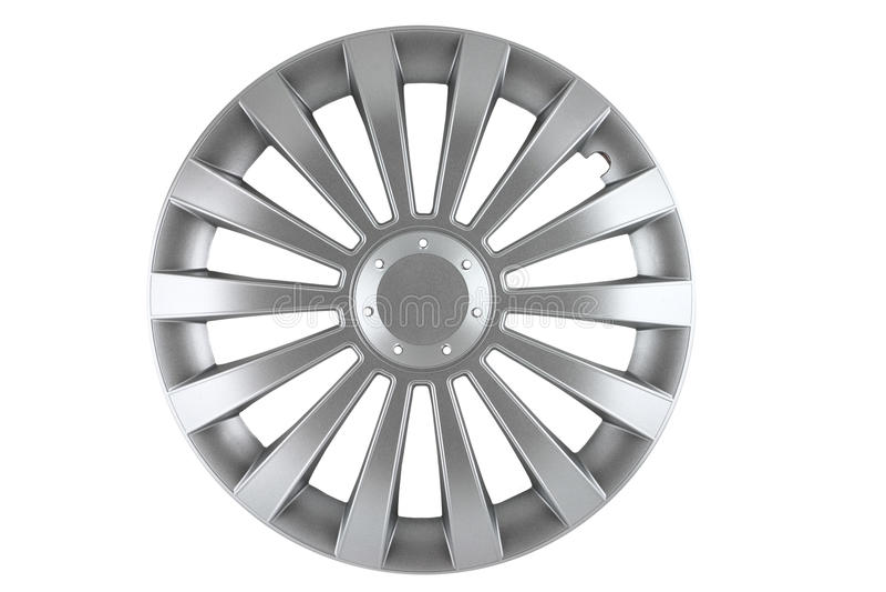 isolerad hubcap arkivbild