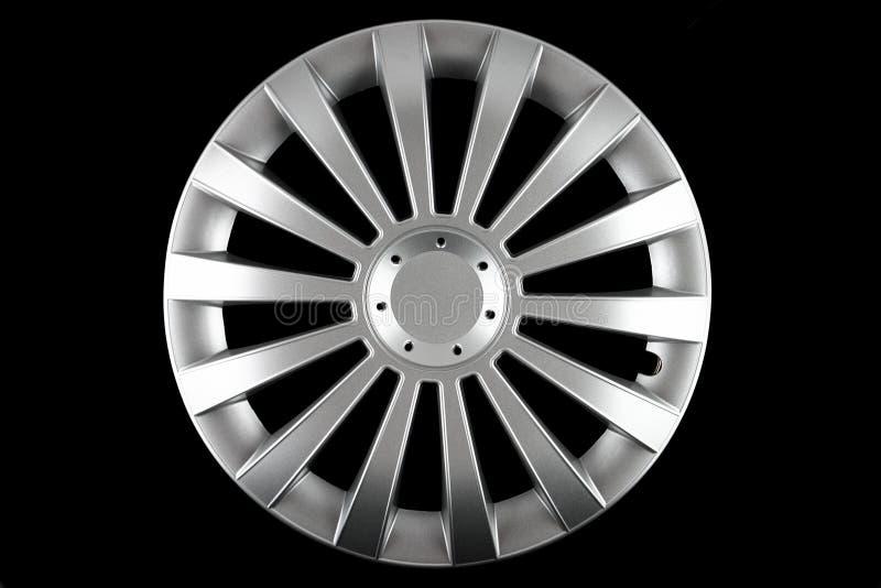 isolerad hubcap royaltyfri foto
