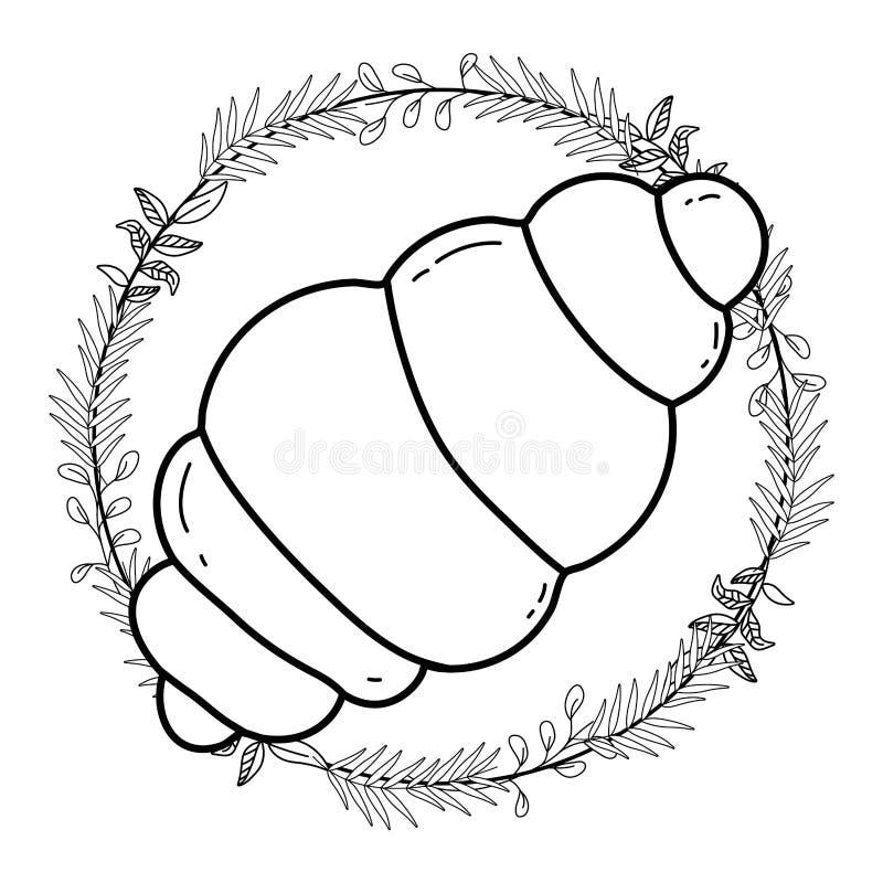 Isolerad illustration för bröddesignvektor vektor illustrationer