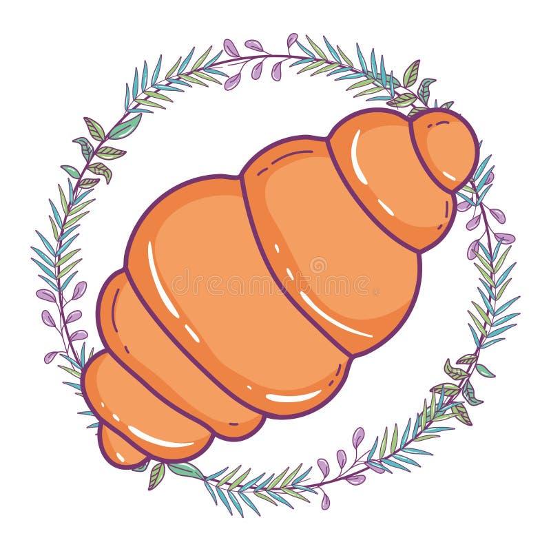 Isolerad illustration för bröddesignvektor royaltyfri illustrationer