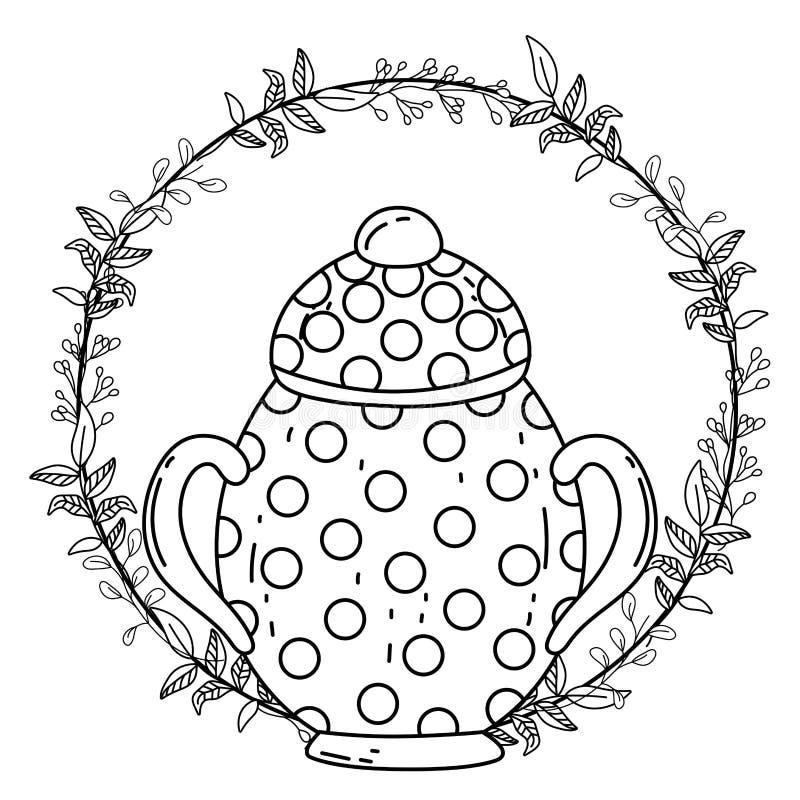 Isolerad illustration för vektor för design för sockerbunke stock illustrationer
