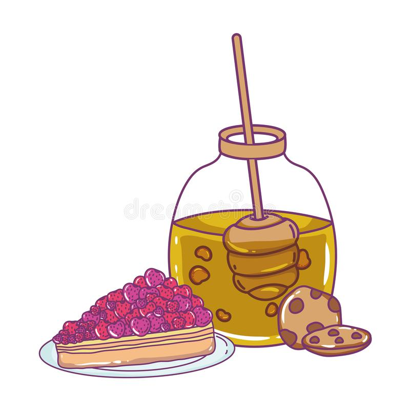 Isolerad illustration för vektor för honungkrusdesign vektor illustrationer