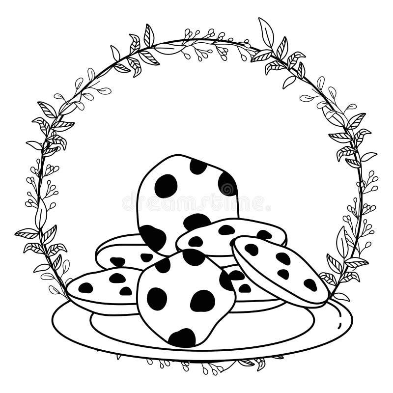 Isolerad illustration för vektor för kakavektordesign stock illustrationer