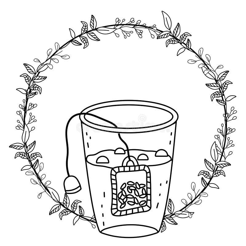 Isolerad illustration för vektor för teexponeringsglasdesign vektor illustrationer