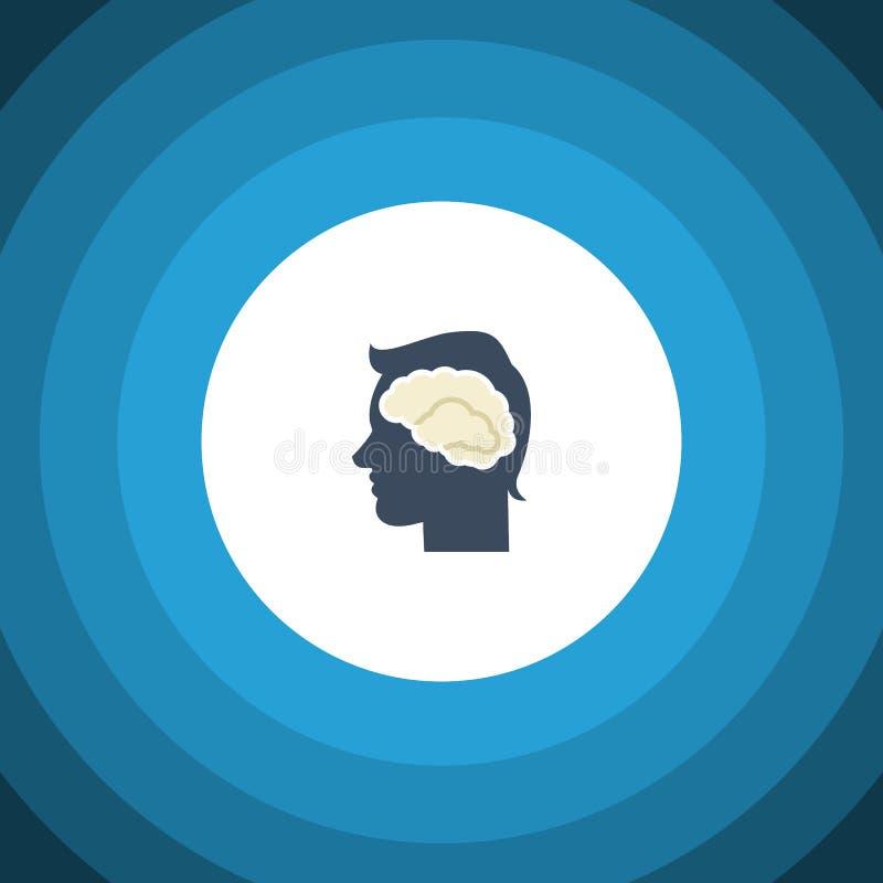 Isolerad intellektlägenhetsymbol Idékläckningvektorbeståndsdelen kan användas för intellekt, idékläckning, Brain Design vektor illustrationer