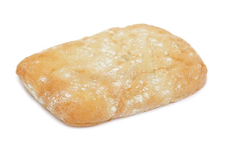 isolerad italienare för bröd ciabatta arkivbilder