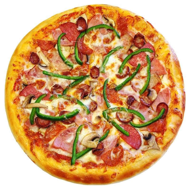 Isolerad italiensk pizza royaltyfri foto