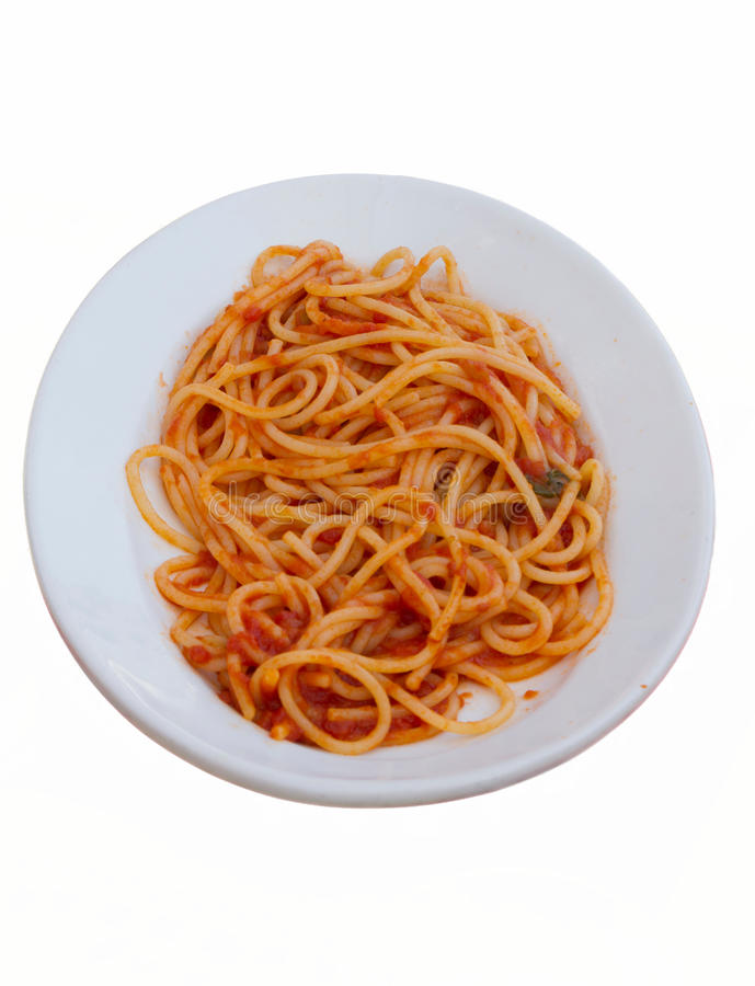 Isolerad italiensk spagetti royaltyfria bilder