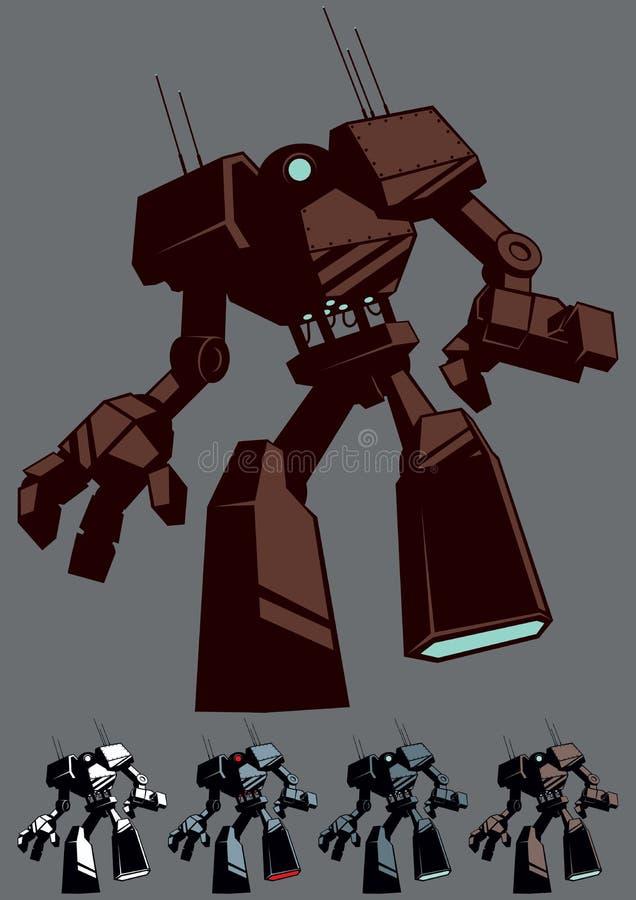 Isolerad jätte- robot stock illustrationer
