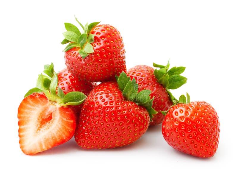 Isolerad jordgubbe fotografering för bildbyråer