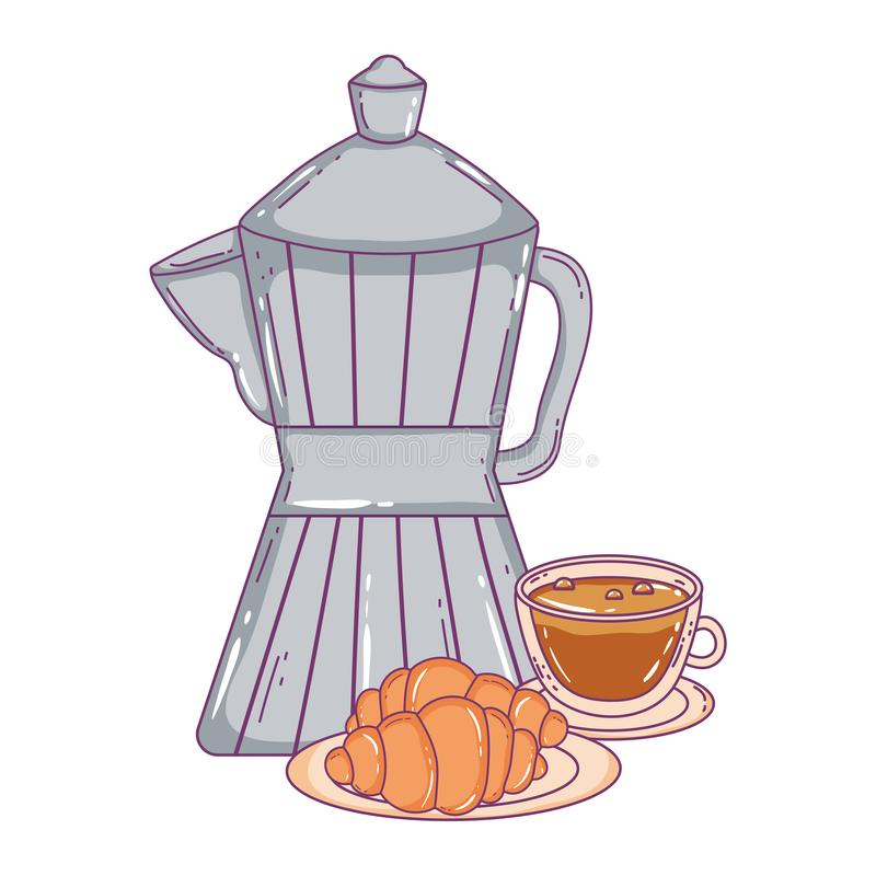 Isolerad kaffebryggarevektordesign vektor illustrationer