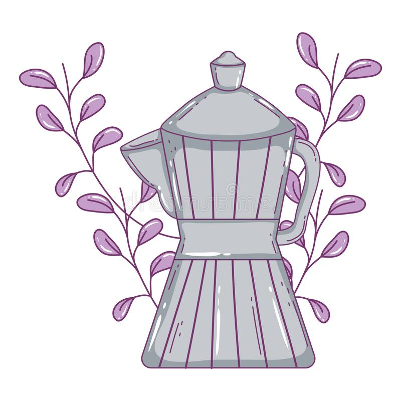 Isolerad kaffebryggarevektordesign royaltyfri illustrationer