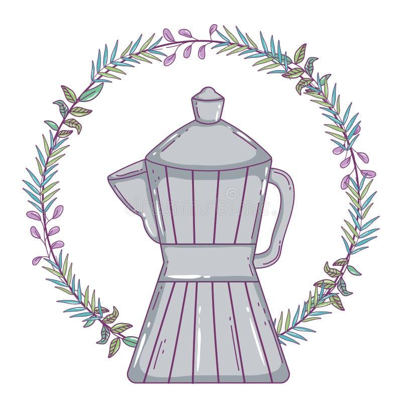 Isolerad kaffebryggarevektordesign stock illustrationer