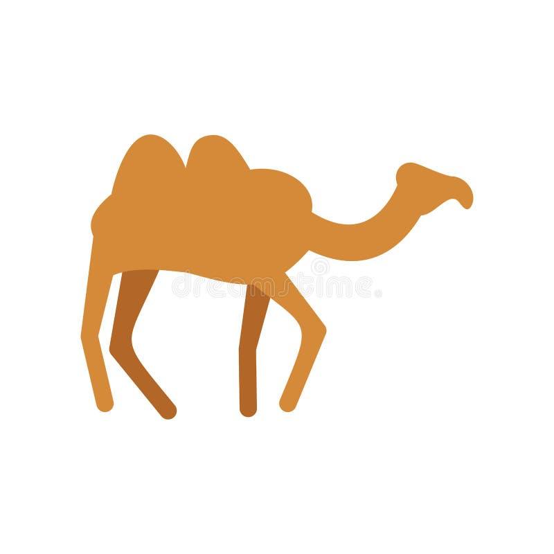 isolerad kamel Ökendjur på vit bakgrund vektor illustrationer