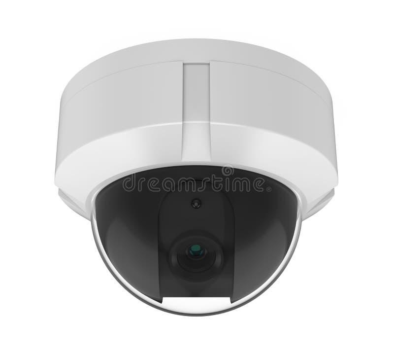Isolerad kamera för kupolCCTV-säkerhet royaltyfri illustrationer
