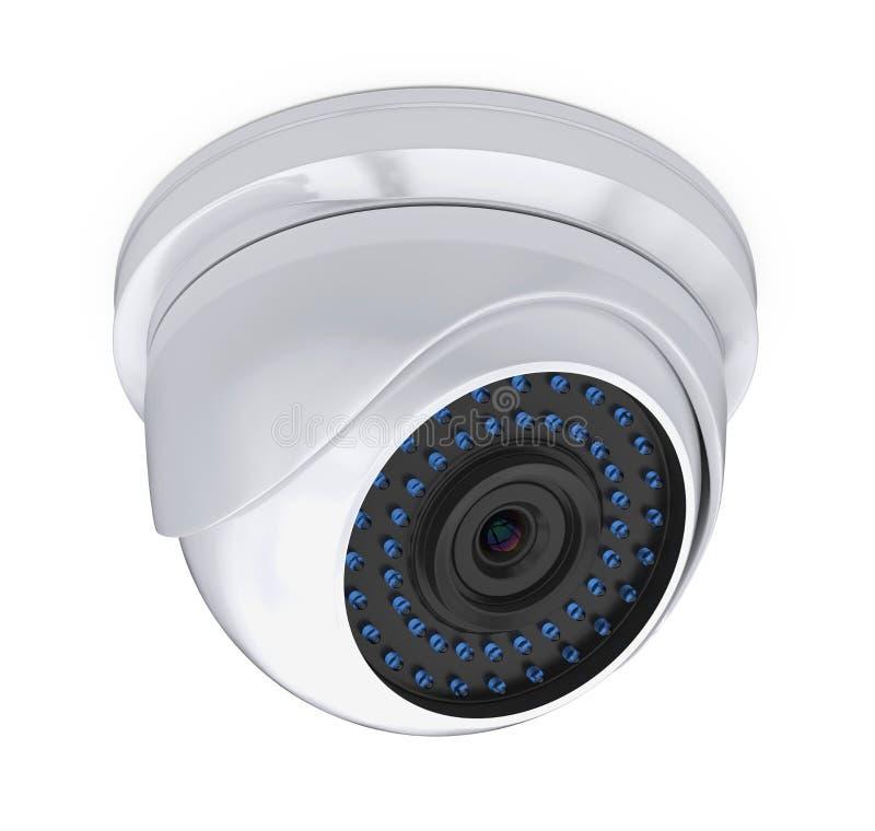 Isolerad kamera f?r kupolCCTV-s?kerhet vektor illustrationer