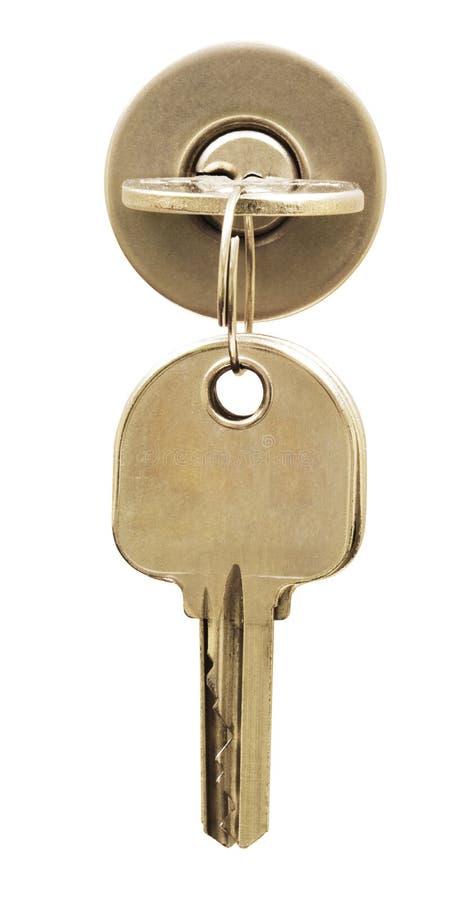 isolerad key låswhite fotografering för bildbyråer