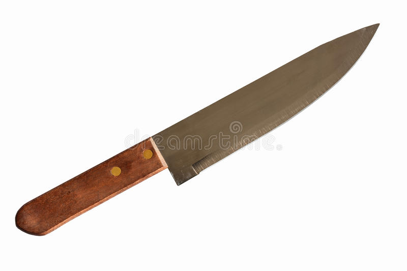 Isolerad kniv på vit bakgrund Snabb bana royaltyfri fotografi