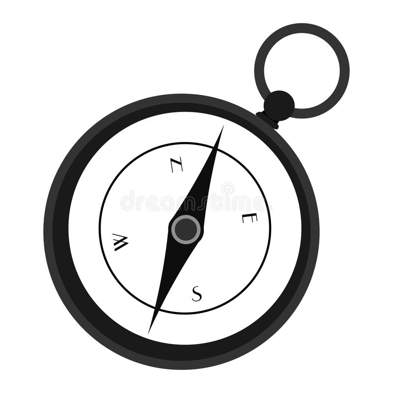 Isolerad kompasssymbol stock illustrationer