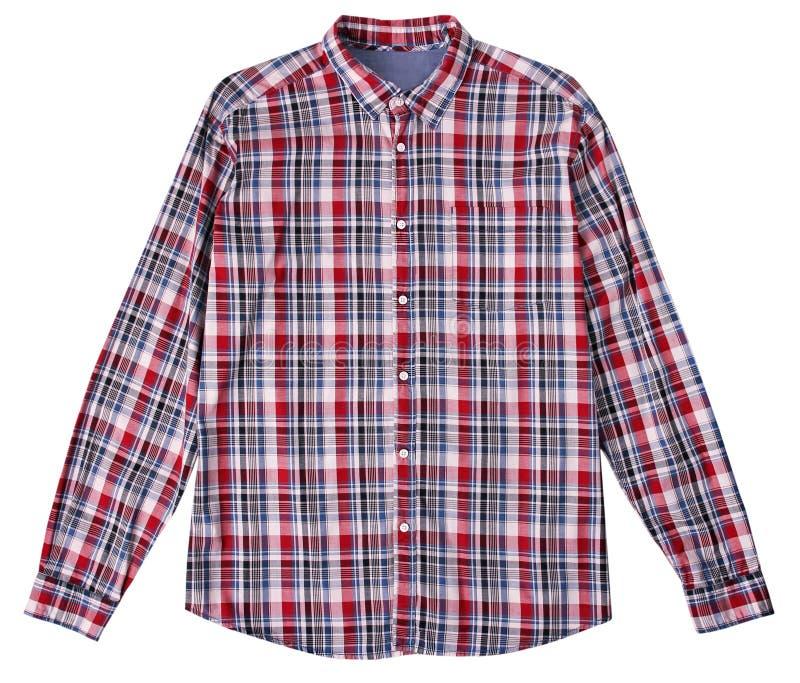 Isolerad kontrollerad manlig skjorta royaltyfria foton