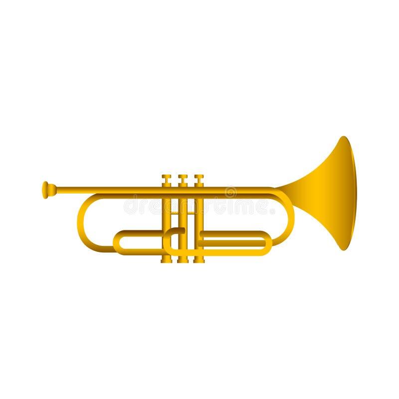 Isolerad kornett saxofon för del för hornsectioninstrument musikalisk vektor illustrationer