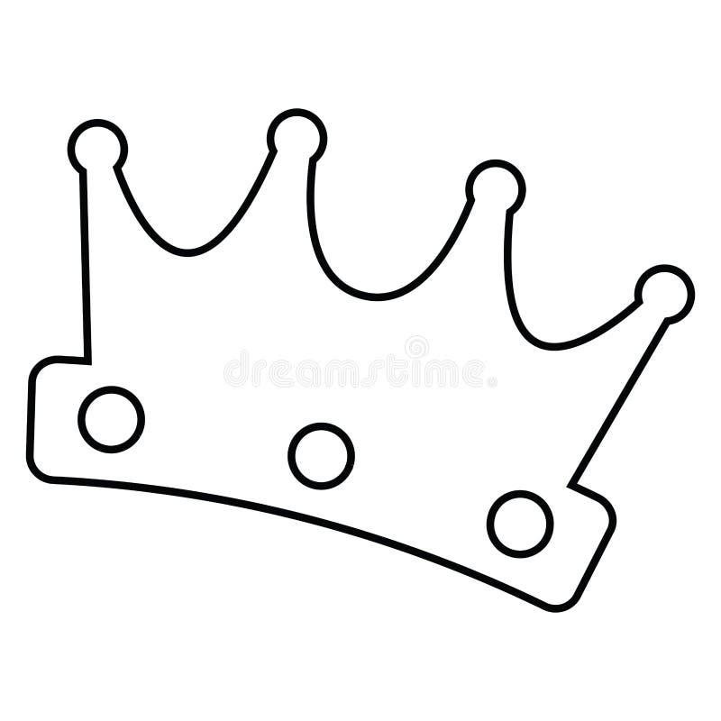 Isolerad kronaöversikt royaltyfri illustrationer