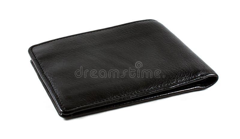 Isolerad läderplånbok arkivbild