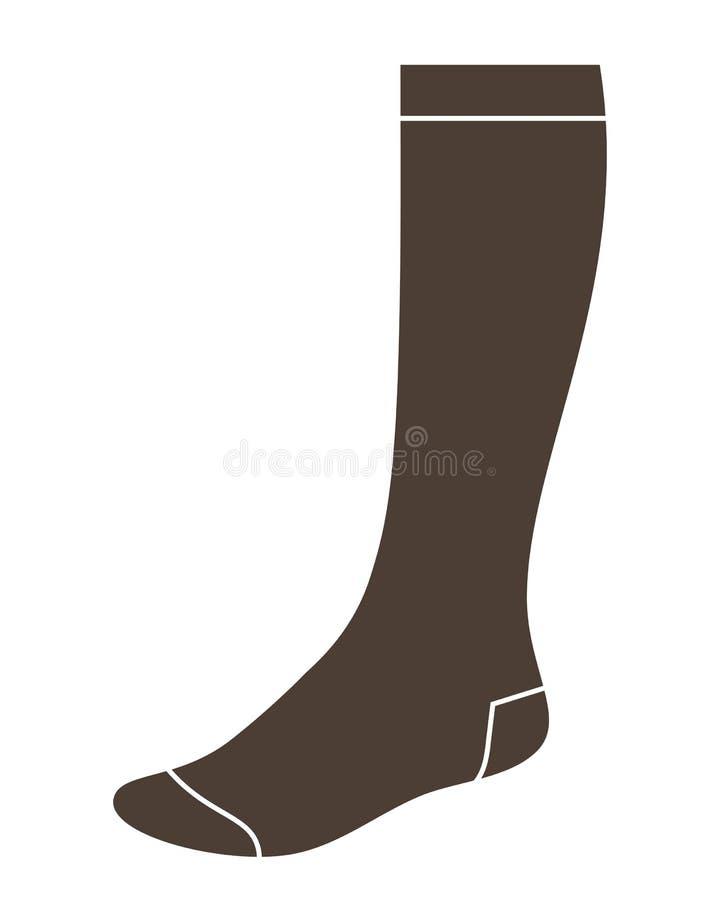 Isolerad lång socka stock illustrationer