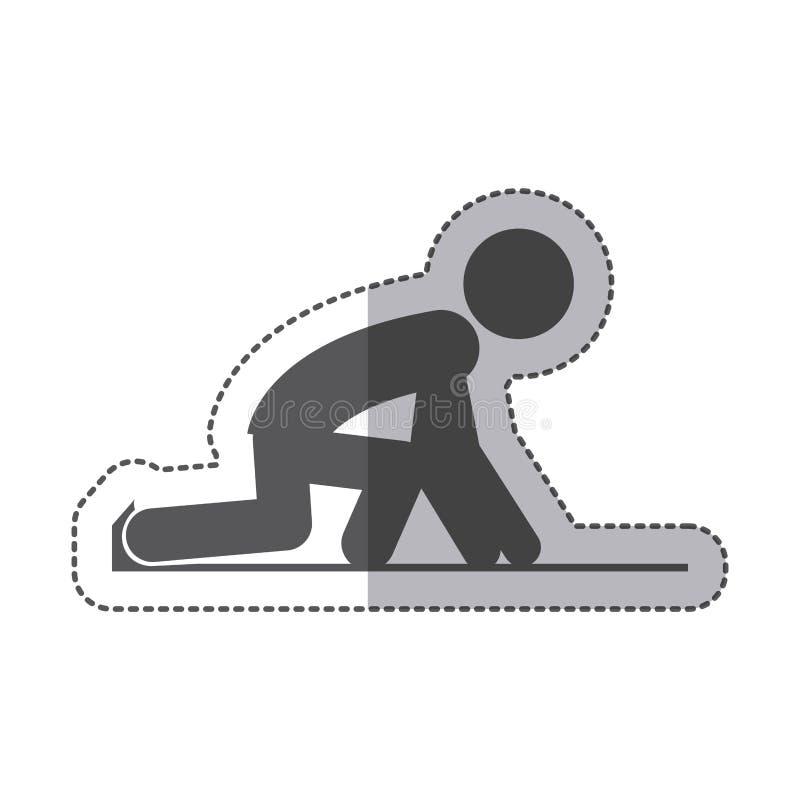 Isolerad löparepictogramdesign vektor illustrationer