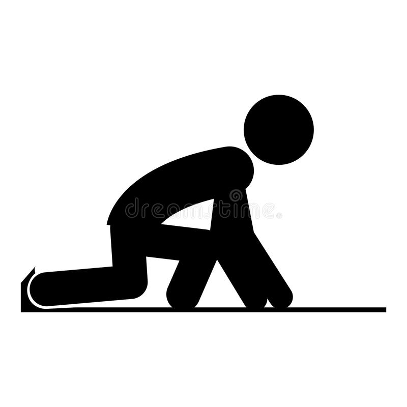 Isolerad löparepictogramdesign stock illustrationer