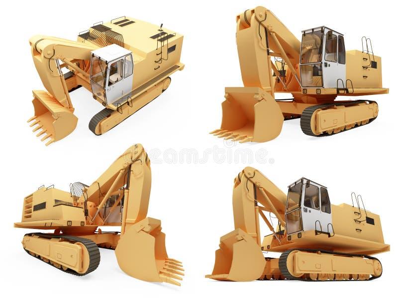 Isolerad lastbil för collage konstruktion
