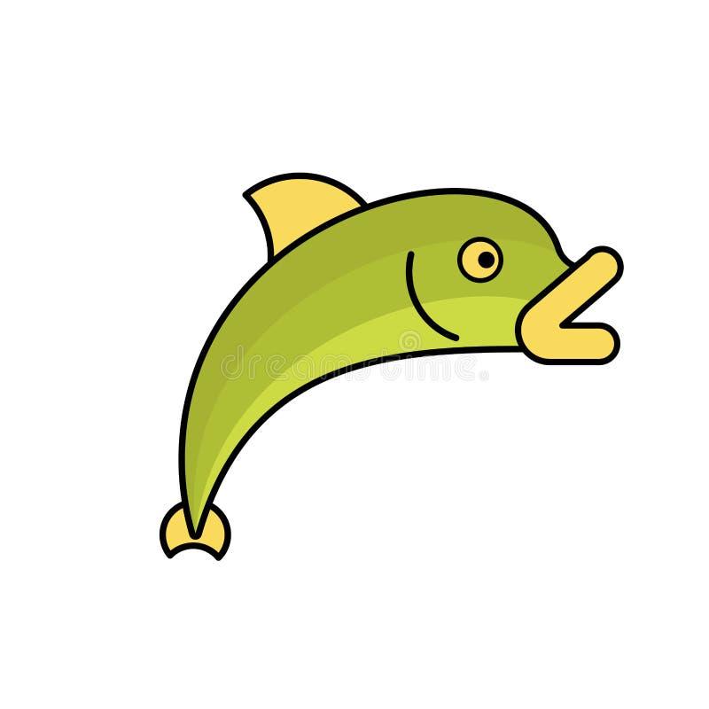 Isolerad laxfisk Vektorillustration för marin- djur royaltyfri illustrationer