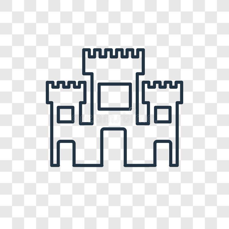 Isolerad linjär symbol för Solomon Temple In Jerusalem begreppsvektor vektor illustrationer